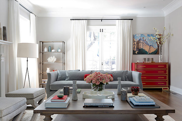 Designer Spotlight: Lucie Ayres | Arianna Belle Blog | Living Room with Center Table