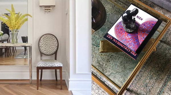 animal print accent chair | coffee table styling details | Designer Spotlight: Meredith Heron | Arianna Belle Blog