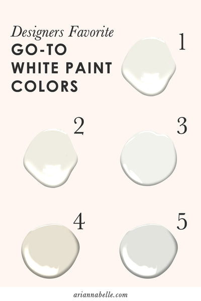 5 Designers Favorite Go-to White Paint Colors | Arianna Belle Blog