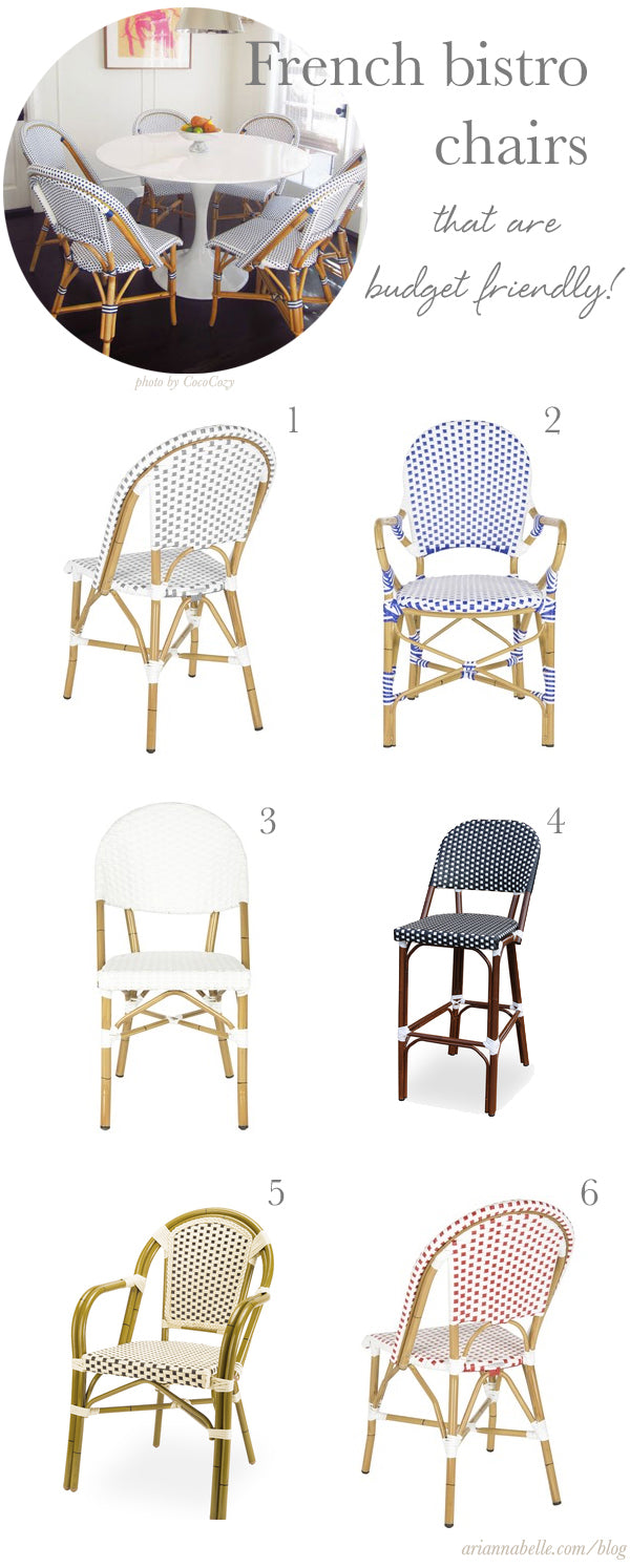budget friendly source for french bistro chairs