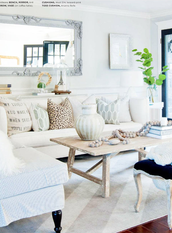 Our Leopard Linen Pillow In Her Beautiful Living Room