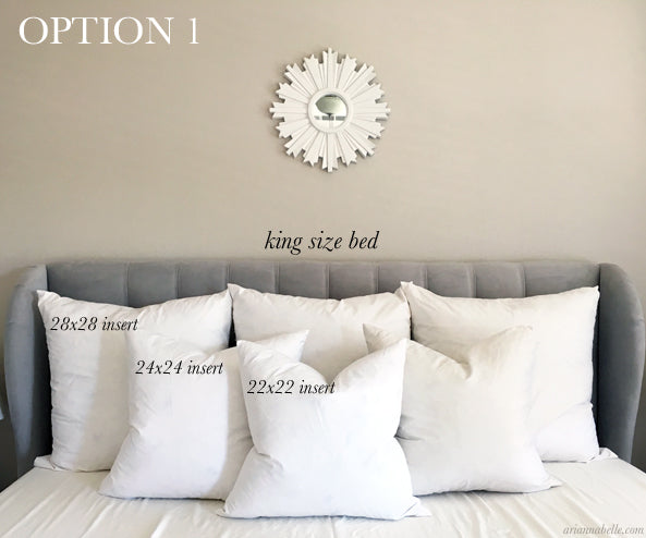 Pillow Size Guide For King Beds Arianna Belle Amazing King Size Decorative Pillows
