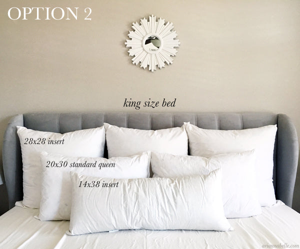 Decorative Pillow Size Guide for King Beds – Arianna Belle