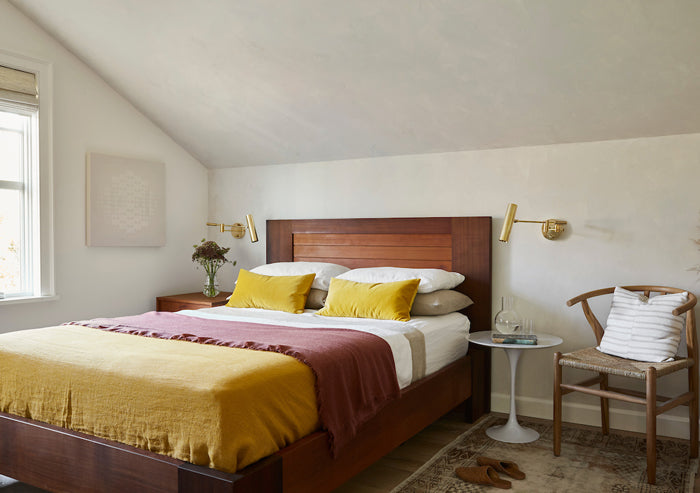 Before & After - bedroom designed by Megan Bachmann / photography by Vivian Johnson