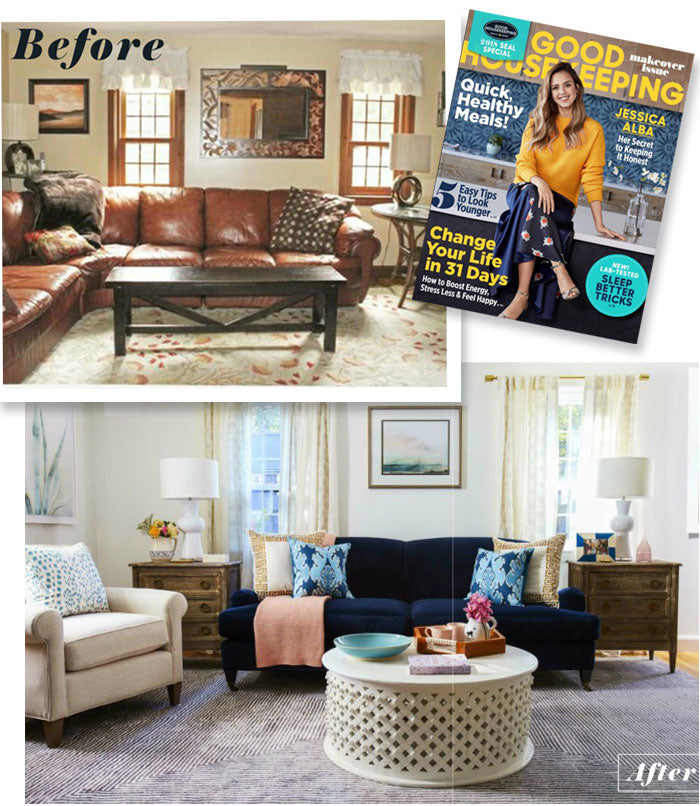 Arianna Belle Pillows as Seen In Good Housekeeping Magazine