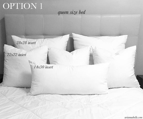 queen bed pillows Pillow Size Guide for Queen Beds – Arianna Belle queen bed pillows