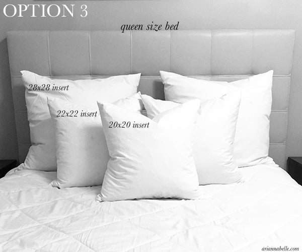 Pillow Size Guide For Queen Beds Arianna Belle