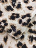 Leopard Linen IMPERFECT 20x20