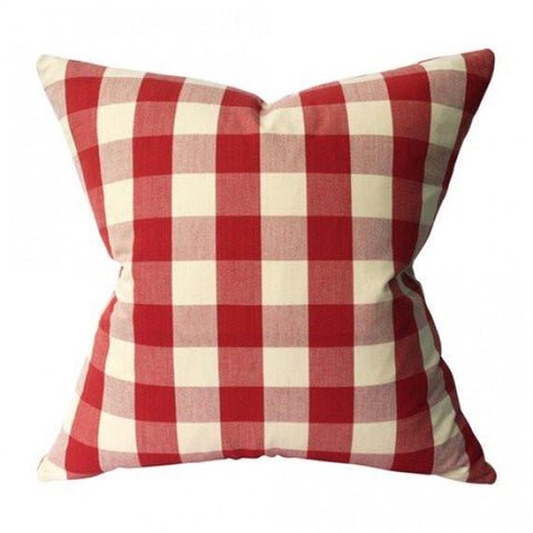 Buffalo Check Red Custom Designer Pillow | Arianna Belle
