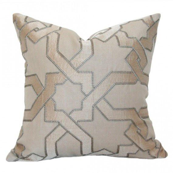 Cordoba Embroidery Stone Custom Designer Pillow | Arianna Belle