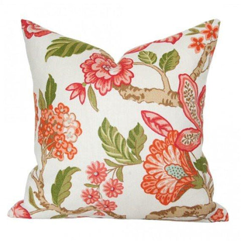 Huntington Garden Coral pillow