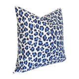 Conga Line Navy & French Blue Custom Designer Pillow side view | Arianna Belle
