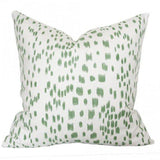 Les Touches Green Custom Designer Pillow | Arianna Belle