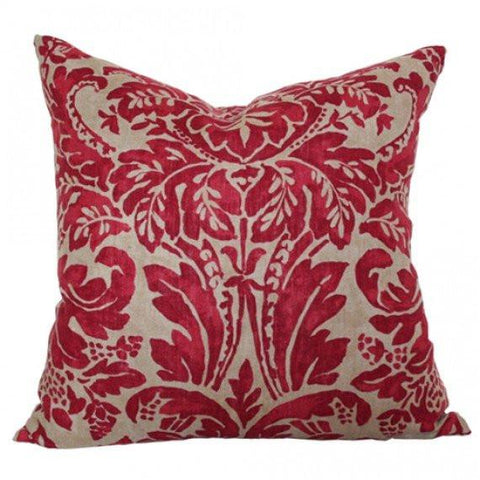 Montrose Linen Ruby Custom Designer Pillow | Arianna Belle