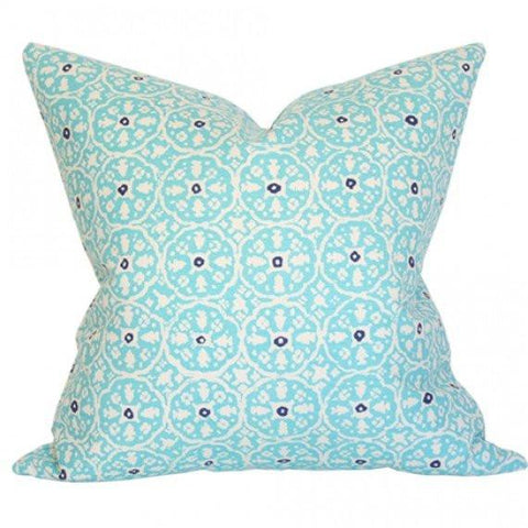 Nitik II Turquoise on Tint Custom Designer Pillow | Arianna Belle