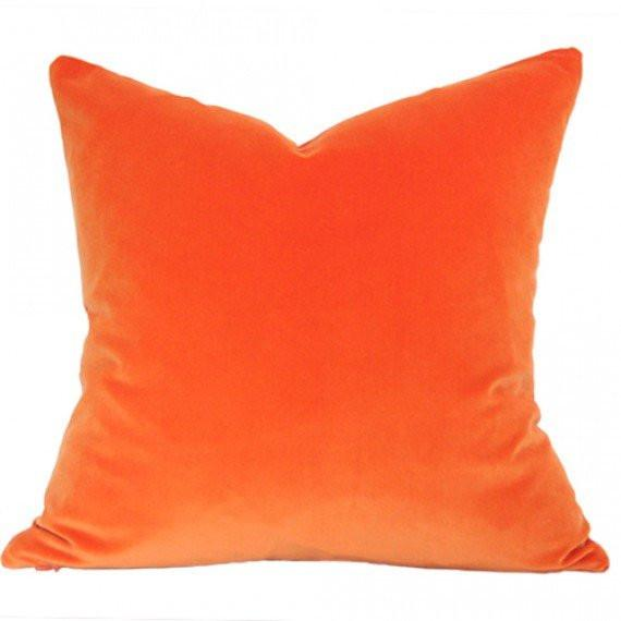 Orange Velvet Custom Designer Pillow | Arianna Belle
