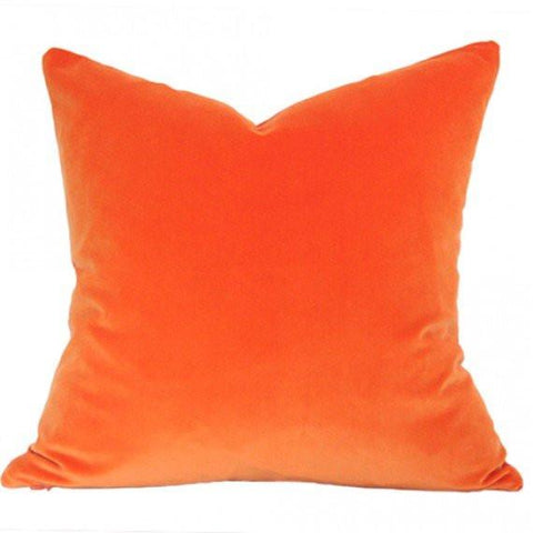 Orange Velvet pillow