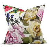 orangerie rose floral designer pillow