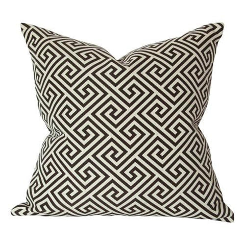 St Tropez Greek Key Java Custom Designer Pillow | Arianna Belle