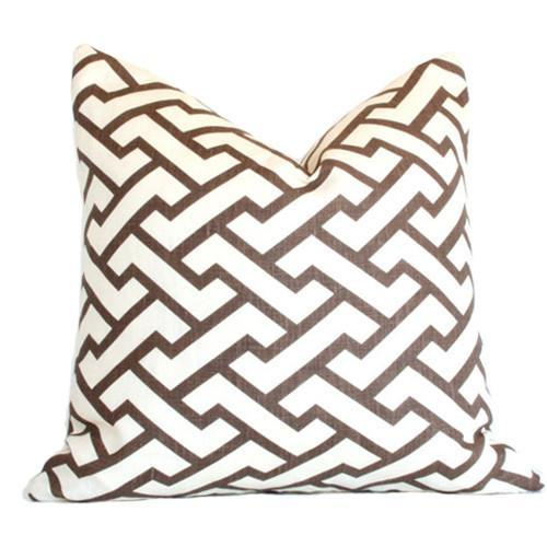Aga Brown Custom Designer Pillow | Arianna Belle