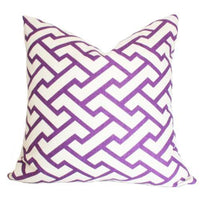 Aga Purple Quadrille China Seas designer pillow