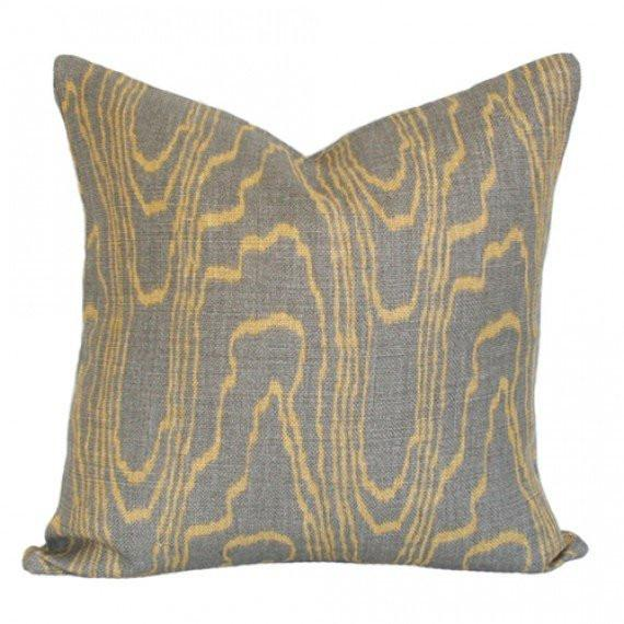 Agate Taupe & Gold Custom Designer Pillow | Arianna Belle