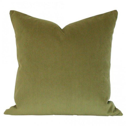 Apple Green Performance Velvet Custom Designer Pillow | Arianna Belle