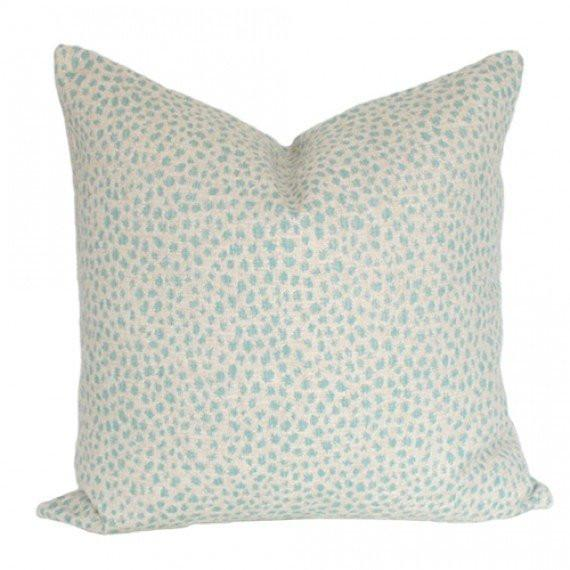 Dotted Aquamarine Custom Designer Pillow | Arianna Belle