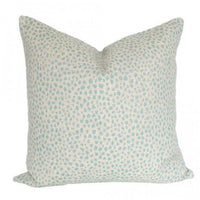 Dotted Aquamarine pillow