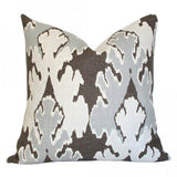 Bengal Bazaar Grey Custom Designer Pillow | Arianna Belle