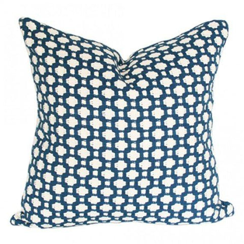 Betwixt Indigo Blue Custom Designer Pillow | Arianna Belle