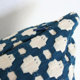 Betwixt Indigo Blue Custom Designer Pillow detailed view | Arianna Belle