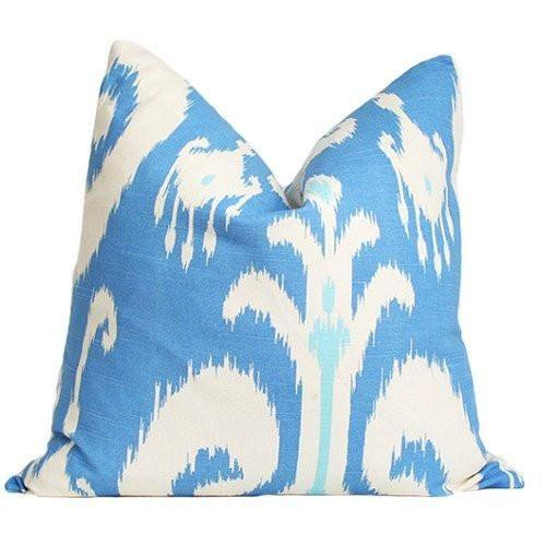 Ikat Blue IMPERFECT 18x18 pattern on both sides