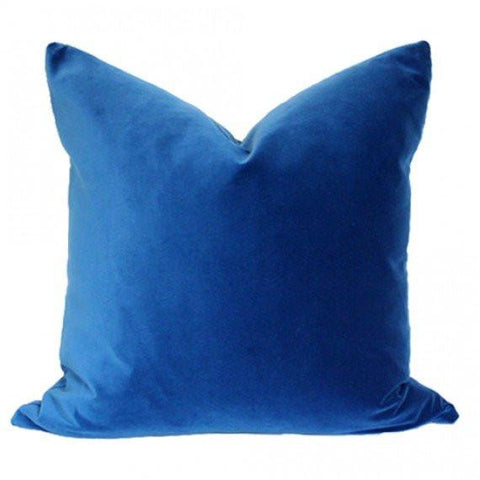 Marine Blue Velvet pillow