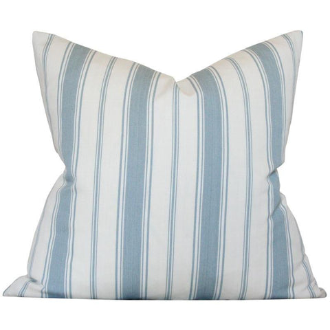 Branca Stripe Sky Blue Custom Designer Pillow | Arianna Belle