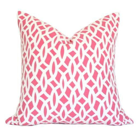 Chain Link Cerise Custom Designer Pillow | Arianna Belle