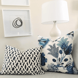 Chain Link Navy & Cambourne Blue Custom Designer Pillow combo | Arianna Belle