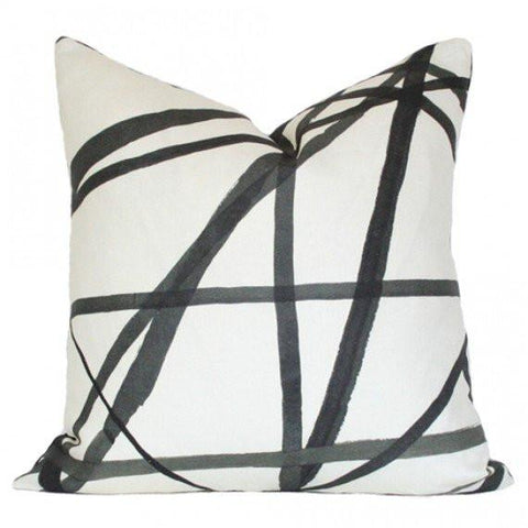 Channels Ebony & Ivory Custom Designer Pillow | Arianna Belle