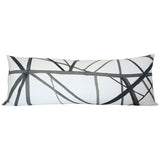 Channels Ebony & Ivory lumbar Custom Designer Pillow | Arianna Belle