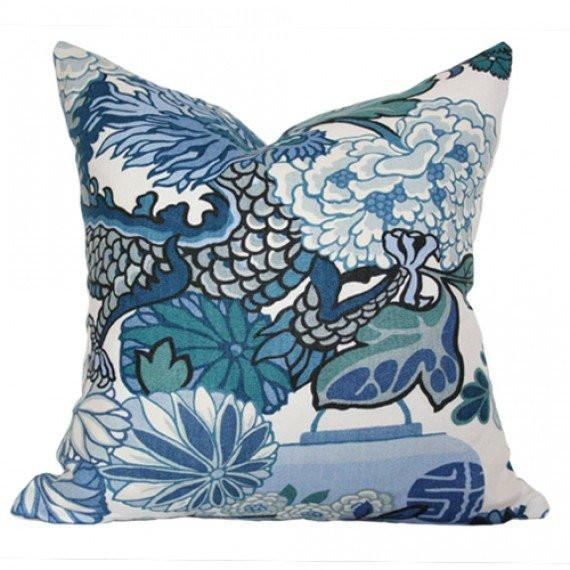 Chiang Mai Blue Custom Designer Pillow | Arianna Belle