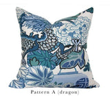Chiang Mai Blue Custom Designer Pillow Dragon | Arianna Belle
