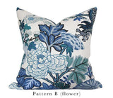 Chiang Mai Blue Custom Designer Pillow Flower | Arianna Belle