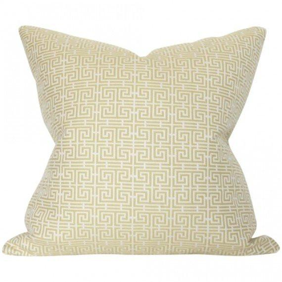 Chinois Fret Celadon & Ivory Custom Designer Pillow | Arianna Belle