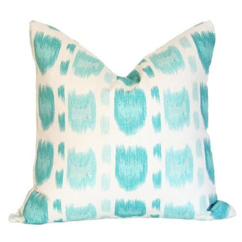 Cintra Turquoise Quadrille pillow