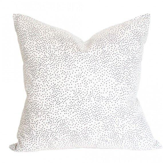 Confetti Cream pillow with regular knife edges