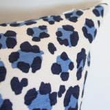 Conga Line Navy & French Blue Custom Designer Pillow detailed view | Arianna Belle