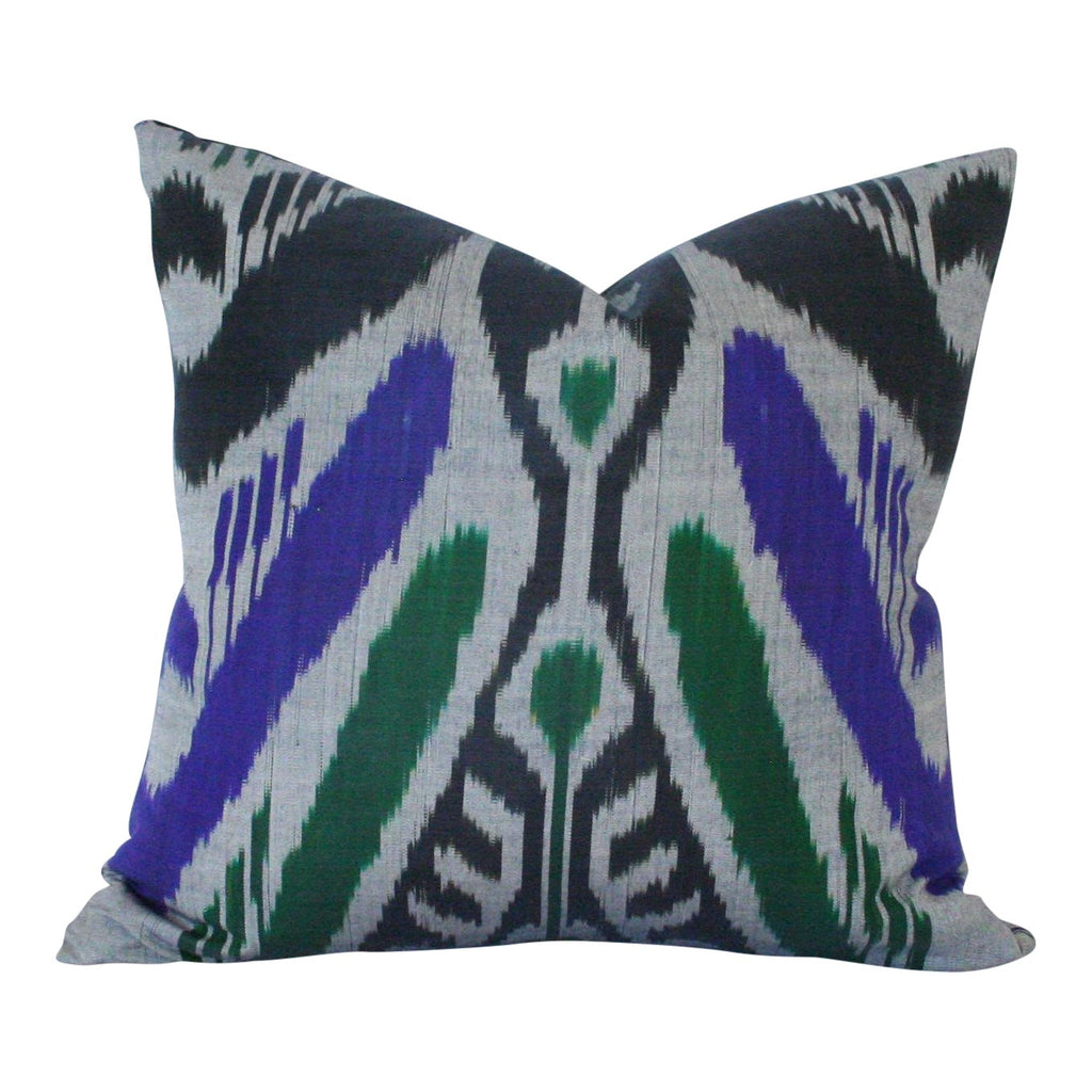 Grey Purple Emerald Ikat (limited)