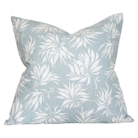 Dahlia Blue & White Custom Designer Pillow | Arianna Belle