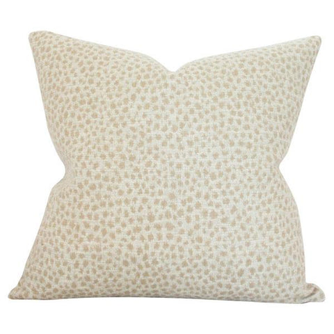 Dotted Beige Custom Designer Pillow | Arianna Belle