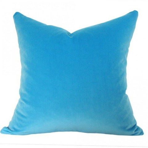 Capri Blue Velvet Custom Designer Pillow | Arianna Belle